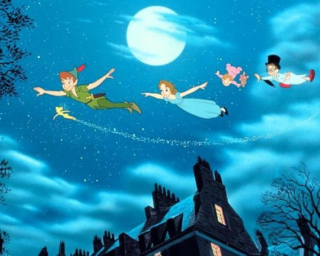 Peter Pan Wendy Flying 1953.JPG